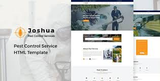 Joshua - Pest Control Service HTML Template by HasTech | ThemeForest
