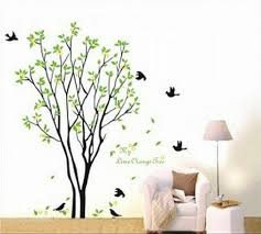 Large Tree Flying Black Birds With Quote Wall Sticker Decal For Kids Room Am0084 For Sale Online Ebay