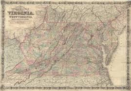 Colton's New Topographical Map of the States of Virginia, West Virginia,  Maryland & Delaware and portions of other adjoining states. | The Old Print  Shop