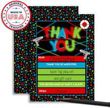 Amazon Com Laser Etiqueta Cumpleanos Notas De Agradecimiento Para