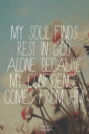 my confidence comes from god quote