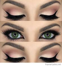 and black eye makeup for green eyes