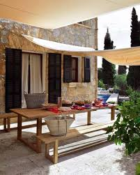 Shade Cloth Over Seating Area Affix From House To Fence Patio Outdoor Retreat Outdoor Rooms