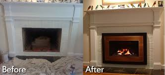 wood burning fireplace to electric