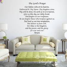 The Lords Prayer Wall Sticker Bedroom Living Room Bible Scripture Inspiration Motivation Amen Quote Decal Kitchen Vinyl Decor Wall Sticker Wall Stickers Bedroomstickers Bedroom Aliexpress