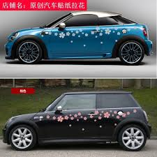 Free Shipping Car Stickers Flowers Pull Flowers Whole Car Stickers Whole Car Stickers Cherry Blossom Personalized
