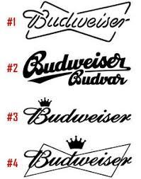 Budweiser Logo Vinyl Decal Sticker Window Storage Beer Breweriana Usa Seller Ebay