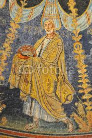 ancient roman mosaic of the apostle