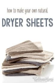 how to make natural dryer sheets