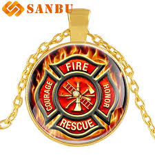 american firefighter pendant necklace