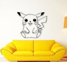 Wall Stickers Vinyl Decal Pokemon Pikachu Anime Kids Baby Room Nursery Wallstickers4you
