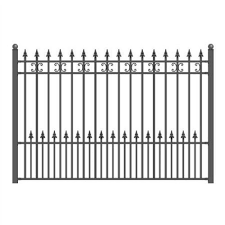 Aleko St Petersburg 5 Ft X 5 5 Ft Diy Iron Wrought Steel Fence Panel Fencestpdiy5x5 5 Hd The Home Depot Steel Fence Wrought Iron Fences Iron Fence