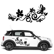 Butterfly Flower Cars Wall Stickers Car Window Sticker Notebook Decal Vinyl Automobiles Decals Quotes Home Decor Sticker On Car Stickers Bmw Notebook Kitstickers Bullet Aliexpress