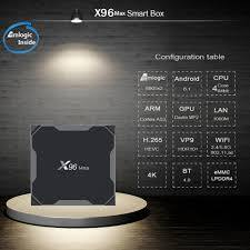 Android TV Box EnyBox X96 Max – Ram 4GB, Rom 32GB, Android 8.1- Có Bluetooth