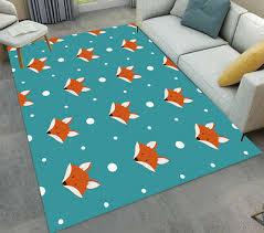 Magic Cartoon Design Unicorn Stars Area Rugs Kids Bedroom Living Room Floor Mat