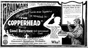 1920 - THE COPPERHEAD - Charles Maigne - (LOS ANGELES HERALD, Monday,  February 9, 1920, Los Angeles, California) | Greatful, February 9, Herald