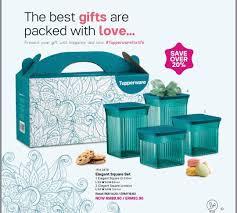 tupperware elegant square gift set