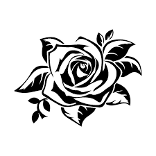 17 7 13 4cm Fashion Charm Rose Car Sticker Reflective Waterproof Vinyl Decals Black Silver Car Styling C7 1372 Car Styling Vinyl Decalstyle Vinyl Aliexpress