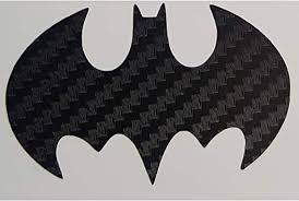 Amazon Com Dark Knight Batman Logo Insignia Sticker Decal In Carbon Fiber Black For Truck Car Locker Notebook Laptop Tablet Glass Metal Or Plastic Automotive