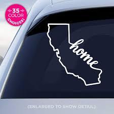 Amazon Com California State Home Decal Ca Home Car Vinyl Sticker Add A Heart Over Los Angeles San Francisco San Diego San Jose Made With Outdoor Vinyl Handmade
