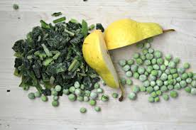 spinach peas and pear puree what mj