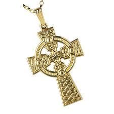 10k gold large traditional celtic cross