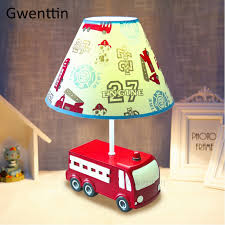 Fire Truck Resin Table Lamps For Children S Room Bedroom Bedside Lamp Cartoon Cute Car Desk Light Kids Birthday Gift Home Deco Led Table Lamps Aliexpress