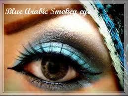blue arabic smokey eye makeup you