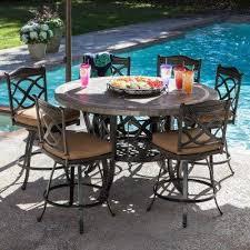 heirloom slate outdoor patio dining set