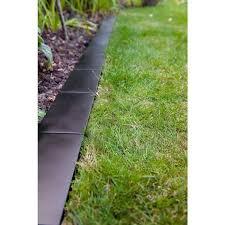 black metal brick style lawn edging