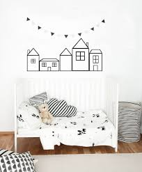 Outline Houses Decal Houses Sticker Wall Decals Nursery Etsy