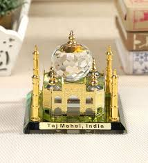 gold brass and glass taj mahal by exim