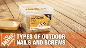 Types Of Outdoor Nails And Screws The Home Depot