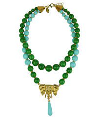 Katerina Psoma Ida Green Turquoise Short Necklace < Katerina Psoma ...