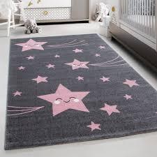 Teppium Kids Play Mat Rug Baby Room Carpet With Stars Pink Carpet Ceres Webshop