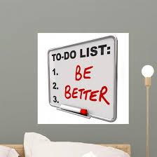To Do List Be Better Wall Decal Wallmonkeys Com