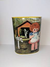 Raggedy Ann Garbage Can Raggedy Andy Pale Trash Can Kids Room Etsy