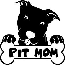 Pitbull Decal Sticker Head Tilt Pit Bull Pit Mom Dog W Bone Super Cute Vinyl Car Decal Laptop Decal Car Window Sticker 15x15 Cm White Wish