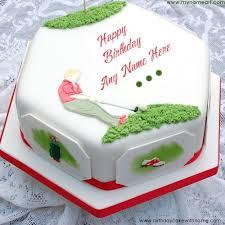 write custom name on golf birthday cake