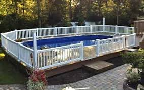 Semi Inground Pools Construction Long Island Pool Construction
