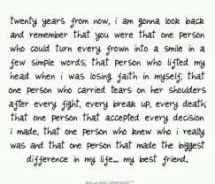 thank you best friend essay