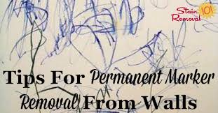 permanent marker removal from walls