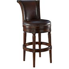 top grain leather swivel counter stool