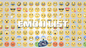 full list of emojis 2020 prosettings