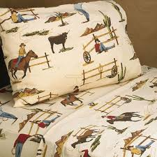 pc twin sheet set for wild west cowboy