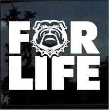 Uga Georgia Bulldogs For Life Window Decal Sticker Custom Sticker Shop