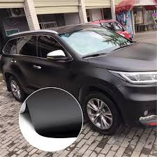 12 X 60 Diy Easy Installation Matte Flat Black Vinyl Film Wrap Sticker Decal Bubble Free Air Release Color Film Car Decoration Car Stickers Aliexpress