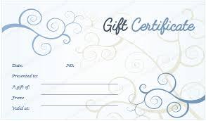 blue fl design gift certificate