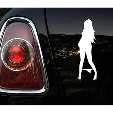 1pcs 19 X 6cm Car Stick Black White Bikini Beauty Sexy Girl Anime Car Styling Window Vinyl Decal 3d Car Sticker Accessories Car Stickers Aliexpress