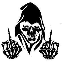 1 Car Window Decal Truck Sticker Awesome Wicked Grim Reaper Death Evil F U Ebay